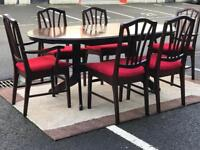 Extendable Dining Table & 6 Chairs (@07752751518)