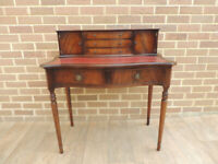Regency Mahogany Desk with Ox Blood Top (UK Delivery)