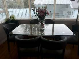 6 seat table and chairs.dining table