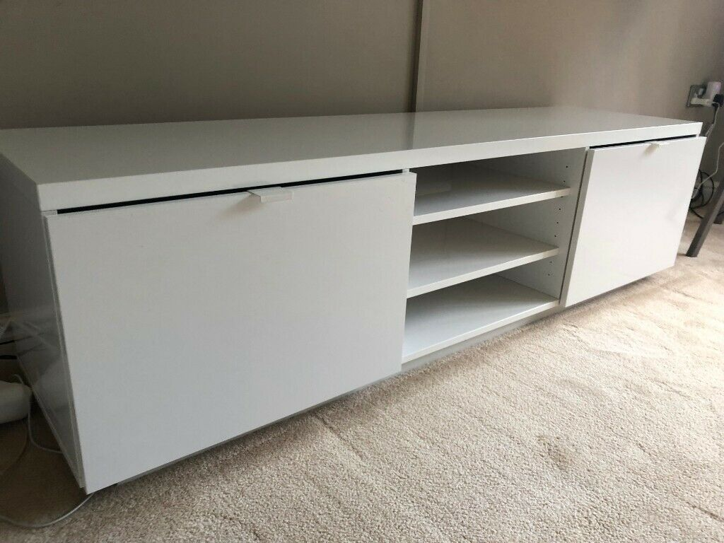 Beste IKEA Byas Gloss White TV Unit / Cabinet | in Bacup, Lancashire TC-99