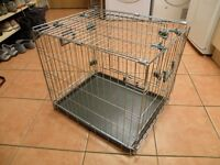 "Dog Cat Folding Cage Crate by Rosewood Small L22"" (56cm) x W18"" (45cm) x H20"" (51cm) VGC"