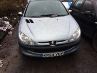 2005 Peugeot 206 SW S Estate 2L Petrol Silver BREAKING FOR SPARES