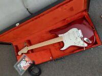 Left-handed Fender Stratocaster
