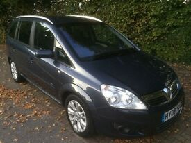 2009 VAUXHALL ZAFIRA 1.9 CDTI ACTIVE PLUS SEVEN SEATER DIESEL LOW MILEAGE