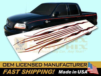 (2002 Ford F-150 Harley Davidson Edition Truck Flames Decals Stripes Graphics Kit)