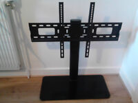 Auna TV Stand Height-Adjustable in 3 Levels Suitable for 23-47 Inches