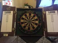 Dart board with 5 sets of darts!