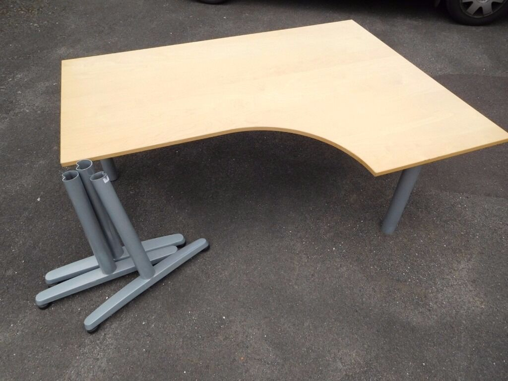 Ikea Galant Corner Desk Birch Veneer