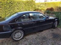 Black BMW 318 Coupe