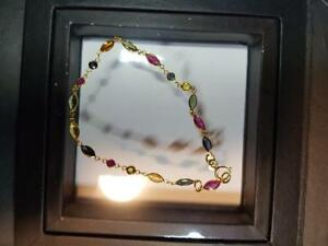 18K Gold Sapphire and Ruby Bracelet, Appraised at $1999!