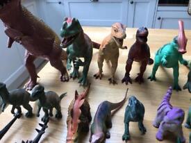Job lot of toy dinosaurs