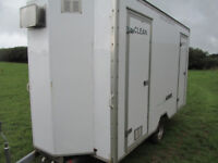 MOBILE SHOWER ROOM WITH CHANGING ROOMS AND LOCKERS IN GOOD CONDITION