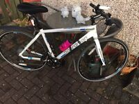 "BOARDMAN hybrid bike 21"" frame with loads of accessories - IMMACULATE done less than 10 miles"