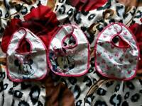 Minnie Mouse 3 Bibs