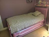Wooden Single Bed with pull out Bed