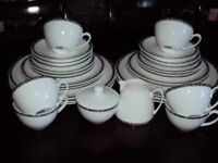 DENBY by BETTY JACKSON BLACK DINNER SET, USED & in good condition, no chips or cracks