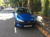 Peugeot 206 zest 1.4 for sale, MOT, no advisory on last MOT, only 2 former keepers.