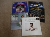 5 VINYL ALBUMS BY MALE ARTISTS - SUCH AS FRANKIE VALLI & THE FOUR SEASONS, LIONEL RICHIE ETC.