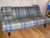 Sofa Bed Futon With Thick Clean Very Comfy Mattress Two Pillows Extra Pillows Clean washed Deliver