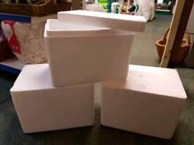 Polystyrene boxes x3