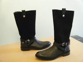 BNWT BLACK LEATHER BOOTS