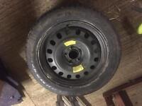 Duro 215/55r17 spare tyre on Peugeot 407sw 5 stud wheel