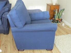 Large Blue Armchair, in good working order