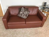 2 Leather Sofas---- 2 X Two Seater Leather Sofa---- Buyer Collects