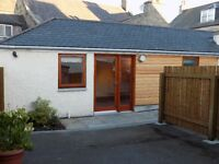 Central Huntly lovely renovated one bed house to rent with private parking and outside space