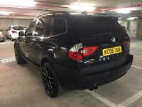 """2006 bmw x3 3.0 d se auto to die for spec heated leather ac cd tinted 20"""" wheels all black satnav"""