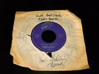 Rare Choker Campbell 45 RPM Record with Signed Jacket