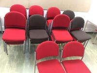 Meeting room stackable chairs