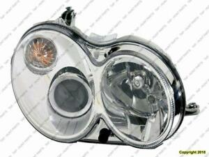 Head Lamp Passenger Side Without Curve Lighting Without Bulb/Module Clk Models High Quality Mercedes C-Class 2008-2009