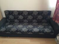 Sofa with storage in good condition.