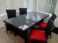 Conservatory Furniture. Sofa, 2 Chairs, Coffee Table, 2 Side tables, 2 Lamps, Dining Table/Chairs.