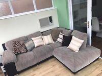 corner sofa with swing armchair £500