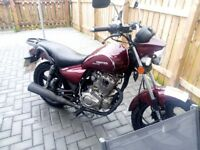 125cc cruiser motorcycle only 2700mls great wee comuter.