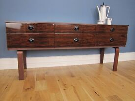 Mid Century Retro Schreiber Sideboard High Gloss Rosewood Formica