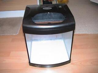 Black aqua 40 fish tank aquarium with light