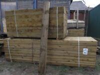 Timber sleepers 100mmx200mmx2.4m