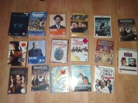 40 x dvds ( 19 sealed ) band of brothers it crowd fawlty towers summer wine how i met your mother