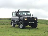 "1999 Defender 90 TD5 County Station Wagon, Black, 2"" Old Man Emu Lift, Snorkel Drives Superb, MAY PX"