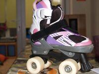 Girls roller skate