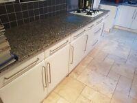 Wickes gloss white kitchen units, hob and oven