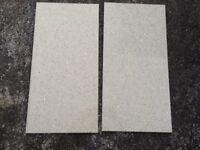 Sparkly quartz floor tiles