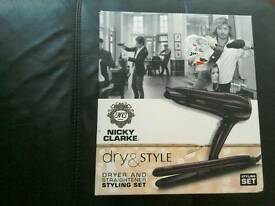 Nicky Clarke hair dryer and straightener set