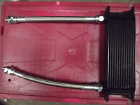 NEW - CLASSIC MINI 13 ROW OIL COOLER KIT - BRAIDED STAINLESS HOSES