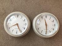X2 cream metal clocks