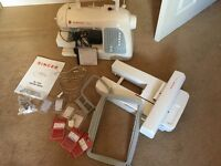 Singer Futura Embroidery/ sewing machine and accessories