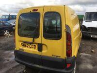 Renault kangoo 1.9dci diesel spare parts bumper bonnet wing light radiator door wheel